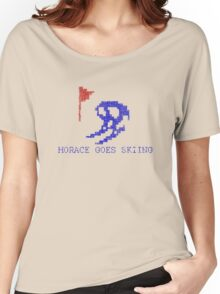Vintage Look Retro Arcade Horace Goes Skiing Women's Relaxed Fit T-Shirt
