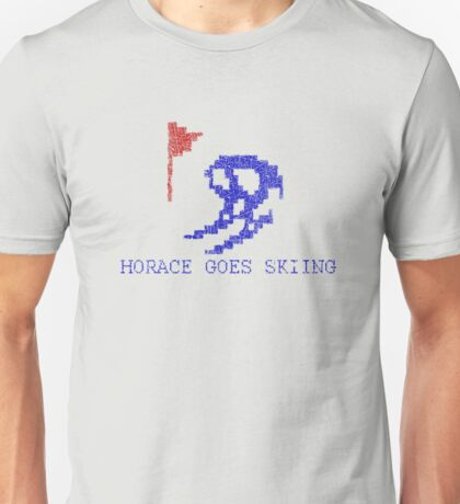 Vintage Look Retro Arcade Horace Goes Skiing Unisex T-Shirt