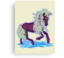 Blue Fire, fantasy Horse Canvas Print