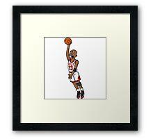 Michael Jordan style Framed Print