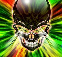 Crystal Skull on Psychedelic Flames by BluedarkArt