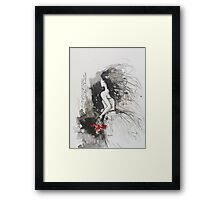 Bleed My Household White Framed Print