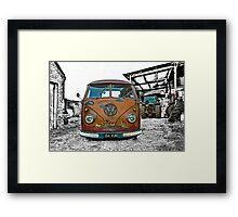 VW Split Screen Framed Print