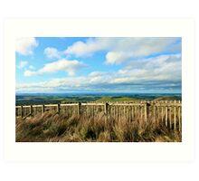 Over the fence- Northern England border Art Print