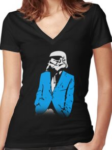 Stormtrooper Party Women's Fitted V-Neck T-Shirt