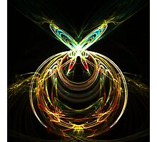 Abstract butterfly ring Photographic Print