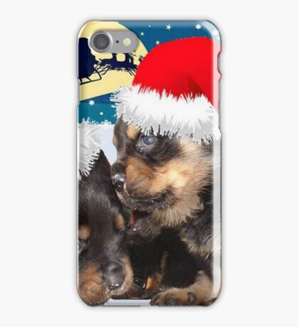 Puppy Christmas: I saw Mummy Kissing Santa Claus iPhone Case/Skin