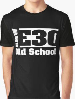 E30 White Graphic T-Shirt