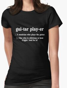 guitar player dictionary Womens Fitted T-Shirt