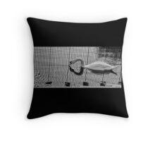 Stripe Swan Throw Pillow