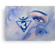 Blue Chakra Canvas Print