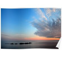 Sunset over Croatia and the Adriatic Sea Poster
