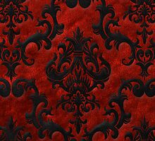 Red Velvet Damask for iPhone by Megan Noble