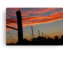 Sunset Fenceline Canvas Print