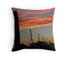 Sunset Fenceline Throw Pillow