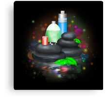 Bottles of SPA cosmetic Canvas Print
