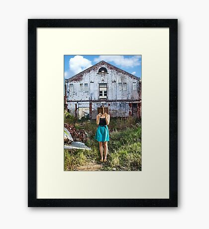 Getting lost in a book Framed Print