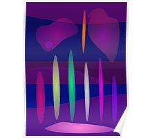 Abstract Pipe Organ Art Poster
