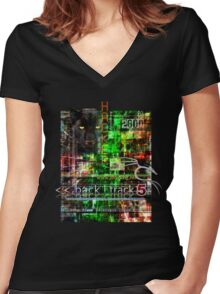 Hacker clothes design Women's Fitted V-Neck T-Shirt