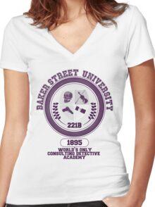 Baker Street University Women's Fitted V-Neck T-Shirt