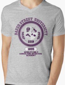 Baker Street University Mens V-Neck T-Shirt