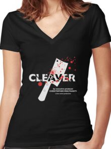 """The Sopranos presents """"Cleaver"""" Women's Fitted V-Neck T-Shirt"""