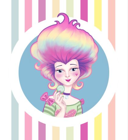Marie Antoinette with Macaron Sticker