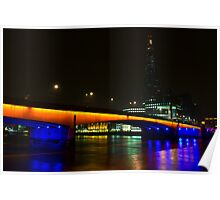 The Shard and London Bridge Poster