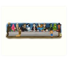 Monsters Last Supper  Art Print