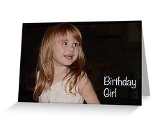 My Little Grandaughter Skye On Her 3rd Birthday Greeting Card