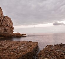 Seacombe Bay and cliffs by Ian Middleton