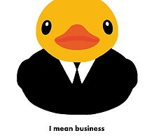 I mean business by Nicholas  Thompson