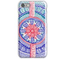 Patriotic Red White And Blue Henna Tattoo Mandala Design iPhone Case/Skin