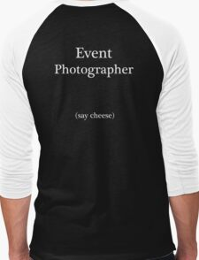 Event Photographer Men's Baseball ¾ T-Shirt
