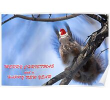Santa Squirrel wishes you a Happy New Year  Poster