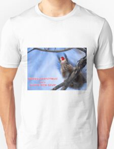 Santa Squirrel wishes you a Happy New Year  Unisex T-Shirt