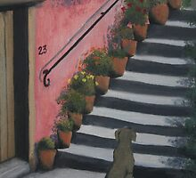 Tuscan Steps by LisaMarina