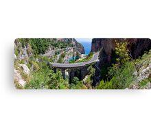Amalfi Coast Road Panorama Canvas Print