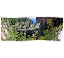 Amalfi Coast Road Panorama Poster