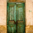 Egyptian Green Door by Hena Tayeb