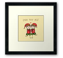 Love Thy Elf Framed Print