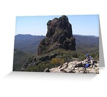 The Top of 'The High Tops' Warrumbungle Nat. Park, N.S.W. Greeting Card
