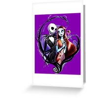 skeleton love and romance Greeting Card