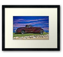 1936 Auburn 'Boat Tail' Speedster I Framed Print