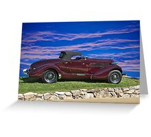 1936 Auburn 'Boat Tail' Speedster I Greeting Card