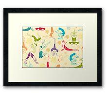 Fun workout pattern Framed Print