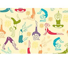 Fun workout pattern Photographic Print