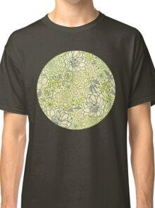 Succulent garden line art pattern Classic T-Shirt