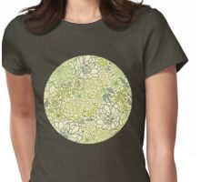 Succulent garden line art pattern Womens Fitted T-Shirt