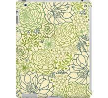 Succulent garden line art pattern iPad Case/Skin